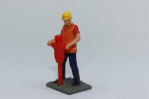 Figurine Man With Hammer 1:50 Statue For Diorama New Construction Worker