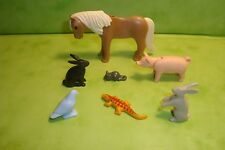 Playmobil: lot d'animaux pour ferme playmobil / animals poney cochon lapin