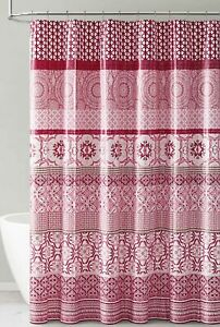 Red Pink White PEVA Shower Curtain Liner Odorless PVC Chlorine Free Eco-Friendly