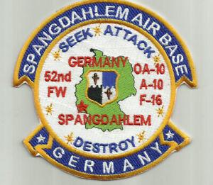 SPANGDAHLEM AIR BASE, GERMANY, 52ND FW      Y