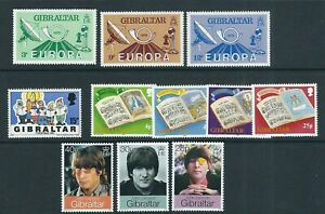 GIBRALTAR 1970-90s MUSIC, ART, CULTURE, THEATER, CINEMA theme VF mostly MNH