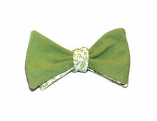 42da239ebaf3 Olive green with floral backing bow tie - Adjustable self-tie bowtie