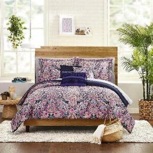 Purple Comforter Bedding Set Multi Medallion 8 Piece Bed In A Bag Multiple Sizes