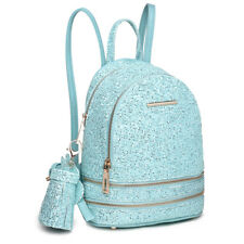 Ladies Sequins Shiny Small School Shoulder Bag PU Leather Girls Small Backpack