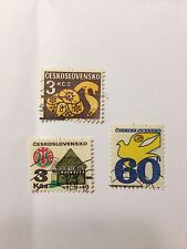 3 Czechoslovakia Postage Stamps, MH, No Reserve!!!