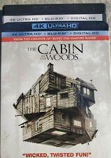 The Cabin in the Woods 4k Ultra Hd & Blu-ray No Digital disc horror Sci Fi movie