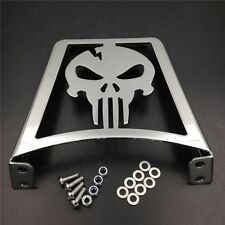 Fit For XL FLSTC FLSTF FLSTS FXST Sportster 883 1200 CHROME Skull Luggage Rack