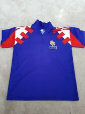 """France F.F.F football shirt 9 Papin. Size S. 20"""" pit to pit. 26"""" top to btm."""