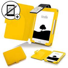 Pelle Giallo custodia con luce LED Amazon Kindle 2016 Proteggischermo Stilo