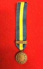 "Miniature EU Althea European Union Medal with 6"" Ribbon"