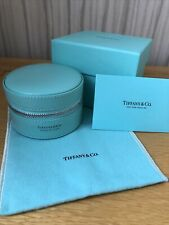 Tiffany & Co Round Leather Travel Jewellery Case NEW Receipt RRP £210