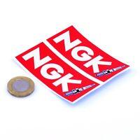 NGK Spark Plugs Stickers Classic Car Motorbike Racing Decals Vinyl 75mm x2