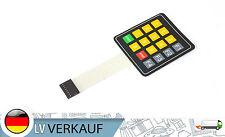 16key Matrix Folientastatur Switch Keypad gelbe Nummern für Arduino Raspberry Pi