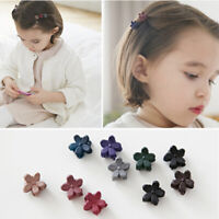 10*Mixed Girls Mini Small Plastic Flower Hair Clips Hairpin Clamps Claws L5W6