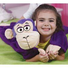 Accessoires maison : plaid couverture enfant peluche Singe - couleur violet