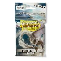 Dragon Shield Perfect Fit Card Protectors Sleeves Standard Clear 100ct 63 x 88mm