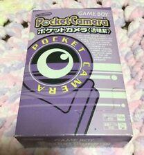 Nintendo Game Boy Genuine Pocket Camera(Transparent purple) w/Box Very rare F/S