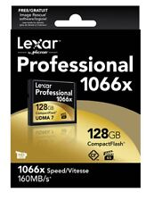 Lexar Media Professional 128 GB CompactFlash (CF) Card 1066X FAST
