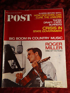 Saturday Evening Post February 12 1966 2/12/66 ROGER MILLER COUNTRY MUSIC
