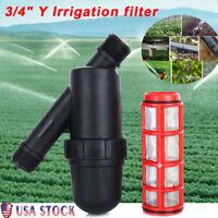"""120 PSI Garden Greenhouse Irrigation Filter 3/4"""" Y Water Filter Drip Strainer US"""