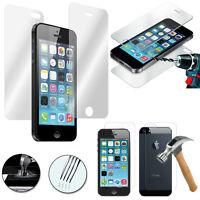 Vitre Film Protection en Verre Trempé AVANT et ARRIÈRE Apple iPhone 5/ 5S/ SE