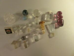 Vintage Perfume Bottle Stoppers Total of Thirteen Very Nice Condition