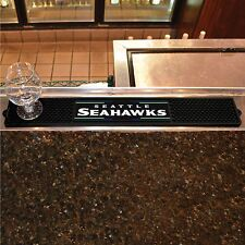 "Seattle Seahawks 3.25"" x 24"" Bar Drink Mat - Man Cave, Bar, Game Room"