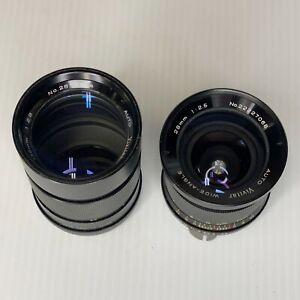 Vintage 2 Lenses Vivitar 28mm f/2.5 & Vivitar 135mm f/2.8 Made In Japan
