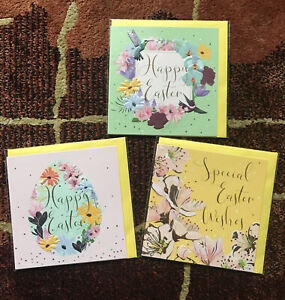 Belly Button Designs by Rachel Hare ~ 3 X Easter Cards ~ 12cm x 12cm