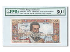 Billets, France, 5000 Francs, ''Henri IV'', 1957, KM:135a, PMG VF30 #23176