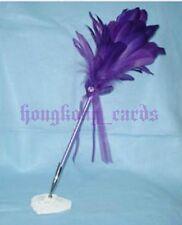 = Neu Purple Wedding Goose Feather Pen Guest Book Quill Pen Box Set Register