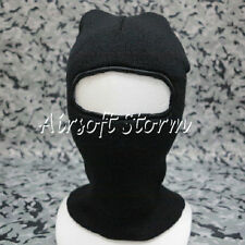 SWAT Balaclava Hood 1 Hole Full Head Face Stretchy Mask Protector Black