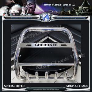 FITS JEEP GRAND CHEROKEE BULL BAR CHROME AXLE NUDGE A-BAR 60mm 2005-2010 LOGO