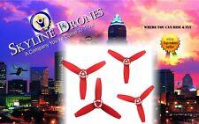 Parrot Bebop 2 Drone Propellers 4 Red Blades