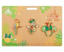 Minnie Mouse Main Attraction Disney Tiki Room Pin Set - IN HAND