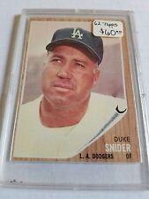 1962 Topps #500 Duke Snider