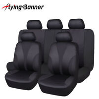 New Car Seat Covers Set Polyester Fabric Washable Rear Bench Split 40/60 50/50