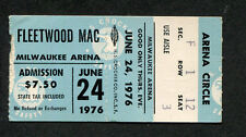 1976 Fleetwood Mac Jeff Beck concert ticket stub Milwaukee My Head Rhiannon