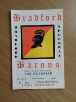 Bradford - The Olympiad Speedway Programme 01/06/75