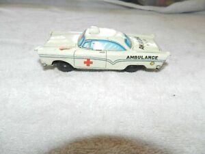 Vintage Tin Litho AMBULANCE  No 12 tin toy Friction Car Japan
