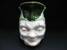 VINTAGE ORIGINAL SARREGUEMINES MAJOLICA JESTER FACE JUG ANTIQUE, FRANCE