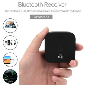 Bluetooth 5.0 NFC Receiver Wireless RCA to 3.5mm Aux Audio Adapter Hands-free UK