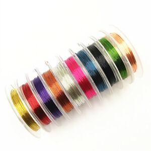 1 Roll 0.3mm*10m Jewelry Making Copper Wire Crafts DIY Copper Wire Line
