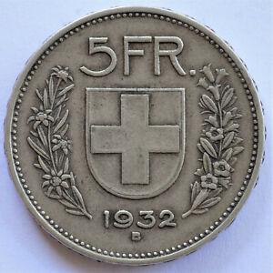Switzerland / Schweiz / Suisse - 5 Franken - 1932 - Silver - XF/XF #789