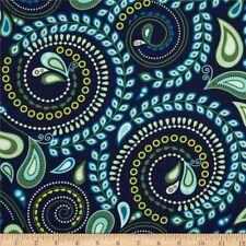 By 1/2 Yard Felicity by Greta Lynn It's a Swirl Navy ~ Benartex Fabric Paisley