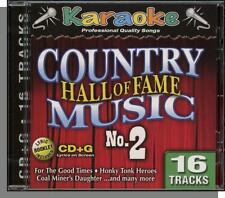 Karaoke CD+G - Country Music Hall of Fame No 2 - New 16 Song CD! D-I-V-O-R-C-E