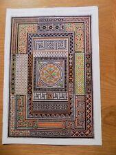 Original Book Print Grammar of Ornament Owen Jones 13x9 Inch Pompeian 3