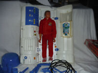 Six Million Dollar Man with elastic arm and bionic transport/repair station