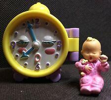 Mimi & GooGoos Wecker Clock 1994 playset spielwelt Baby Mattel Bluebird
