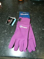 Berghaus Unisex Powerstretch Gloves - Purple Size L/XL